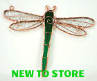 Hand Crafted Suncatcher 5x6 Stained Glass Copper Accent Dragonfly GE143