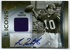 FRAN TARKENTON 07 ABSOLUTE NFL ICONS AUTO AUTOGRAPH JERSEY CARD #44 45!