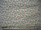 Cream with Red Flowers & Leaves Joan Kessler / Concord - 100% Cotton 2 YDS NEW