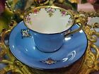 PM Dresden Blue Hand Painted Demitasse Bone China Tea Cup & Saucer