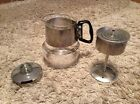 Vintage 4 cup glass coffee pot
