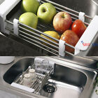 Telescopic Kitchen Sink Dish Drying Rack Insert Storage Organizer Tray Shelf