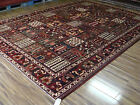AUTHENTIC PERSIAN HANDMADE 12-0X8-8 FINE BAKHTIARI GARDEN TILE DESIGN AREA RUG