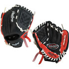 Rawlings 9 in Players Tee Ball Glove 9 IN.RIGHT HAND THROW BLACK/RED
