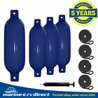 4 Boat Fender 65 x 23 Vinyl Ribbed Bumpers Dock Shield Protection Navy Blue