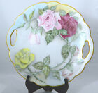Vintage Art Plate Hand Painted Roses signed c 1920