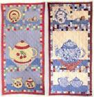 Tea Party ~ Easy Fusible & Pieced Wall Hanging Quilt Pattern by Becky & Me