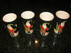 SET OF 4 TALL CHRISTMAS SANTA MUGS BY BECCA BARTON FOR CERTIFIED INTERNATIONAL