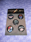 Pacific Rim (2013) Promotional Button Pin Badge 5-Piece Set, NEW, SDCC