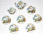 Japanese vintage tea set saki geisha design fine china hand painted very rare