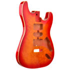 Mahog Cherryburst Quilted Top Strat Style Rockaudio Guitar Body - Clearance