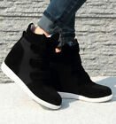 Womens Hidden Wedge Heels Fashion Velcro High Top Sneakers Cute Ankel Boots US 8