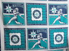 Seattle Mariners MLB Cotton fabric panel Pillow blocks 15