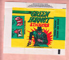 1966 TOPPS GREEN HORNET STICKERS 5c WRAPPER NM
