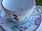 Deruta cups and saucers 2 deruta s berna pair faience folk art Made in Italy