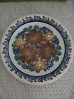 HAND PAINTED BROWN & BLUE FLORAL (LOCCAWEB) #550, #9169 PLATE MADE IN POLAND