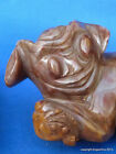 ANTIQUE CARVED CHINESE AGATE CHALCEDONY FOO LION  DOG BEAST jade stone hardstone