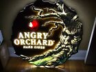 ANGRY ORCHARD LED NEON BEER BAR SIGN MAN CAVE LIGHT UP APPLE ANGRY TREE