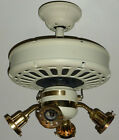 CASABLANCA DELTA VINTAGE CEILING FAN 1984 NAVAJO WHITE IVORY w/ LIGHT CANOPY