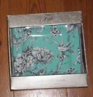 222 Fifth Adelaide Turquoise Salad  Plates  S/8 NEW Birds