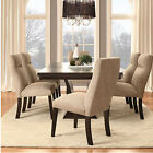 Luxury Elegant Dining Set Contemporary Wooden Dinette Furniture 6 Chairs