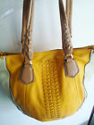 QVC orYANY Lyssie Soft Pebbled Leather Color-Block Tote A252525 SUN Multi $311