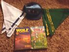Cub Scout Lot  Of 2 Books 1 Hat 2 Scarves Wolf Handbook Boy Scouts America