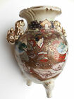 Antique Satsuma Meiji 3 footed Hand Painted Japanese Vase Incense