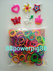 1500 Mixed Neon Color Loom Rubber Bands & 40 S Clips & 6 Charms US Seller
