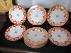 11 PCS ANTIQUE COPELAND ENGLAND GOLD ENCRUSTED BUTTERFLIES 9 7/8
