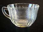 FEDERAL MADRID CLEAR GLASS DEPRESSION GLASS CUP(s) .. read more ...