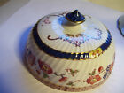 Round Dome Butter Cheese  Cover Soap Dish Imari Durham Royal Derby England