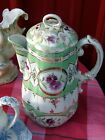 VINTAGE ANTIQUE PORCELAIN CHOCOLATE POT-  HANDPAINTED ~ 9