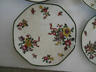 9 ITEM Lot Old Leeds Sprays by Royal Doulton Small Plates & Saucers