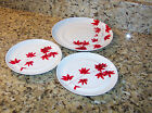 MIKASA PURE RED SALAD Plate & 2 BREAD AND BUTTER PLATES FOR REPLACEMENT RED