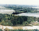 VIETNAM WAR PHOTO US ARMY HUEY HELICOPTER SPRAYING AGENT ORANGE JUNGLE  #21515