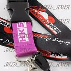 JDM HKS 2 Sided Print Lanyard Keychain Neck Strap Quick Release Key Chian