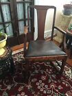 Solid Wood Rocker With Leather Seat 34