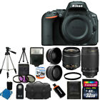 NEW Nikon D5500 Digital SLR Camera +4 Lens 18 55mm VR 70 300 + 32GB Complete Kit