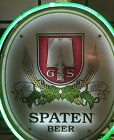 Spaten Beer Neon Sign Rare Vintage! Hard To Find!