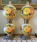 Victorian Style GONE WITH THE WIND Parlor LAMPS 28 Sold as a Pair