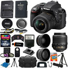 Nikon D3300 Digital SLR Camera 3 Lens Kit 18-55 VR Lens + 32GB Best Value Bundle