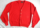 Vtg Arnold Palmer Robert Bruce Mens L Acrylic Cardigan - Large Red Made in USA