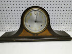 Old Key Wind Two Tone Wood Case Sessions Berkeley Tambour Mantle Clock