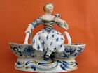 Meissen Porcelain Figurine of a Girl Sitting Between Two Baskets, No Reserve!