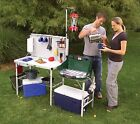 Portable Camping Kitchen Outdoor Picnic Table Folding Tailgating Cooking Gear
