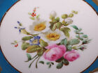 ANTIQUE FRENCH SEVERES PORCELAIN CHINA PLATE HP FLOWERS GOLD TURQUOISE AS FOUND