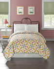 Great LIGHT WEIGHT Yellow Green Cream Quilt Bedspread Comforter Full Queen SZ