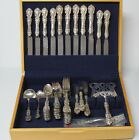 REED & BARTON 925 STERLING SILVERWARE SET SILVER SPOONS - FORKS - KNIVES