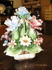 Vintage Capodimonte Centerpiece Porcelain Flower Arrangement - Made in Italy